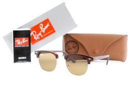 Солнцезащитные очки, Ray Ban Clubmaster 3016-52-20-141-brown